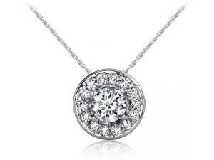 SightHolderDiamonds HLO4400 .50Ctw Diamond Halo Pendant In 14Kt Gold