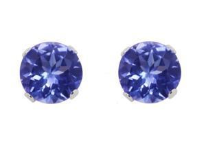 Sight Holder Diamonds .75 CTW Genuine Tanzanite Sterling Silver Earrings