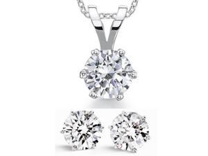 20.00ctw CZ Simulated Diamond Collectors Edition Earring & Pendant