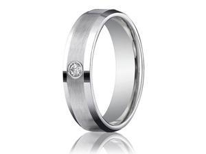 Mens Diamond Ring Set In 14kt Gold Over Stainless