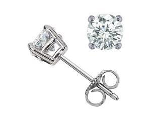 Sight Holder Diamonds SI Genuine Diamond Set In 14k Gold Stud Earrings .50 cttw