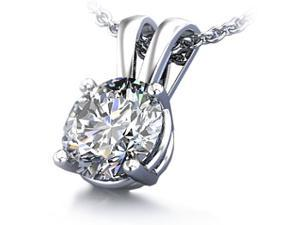 Sight Holder Diamonds 2.00CTW Created Diamond Pendant in Solid 14K White Gold