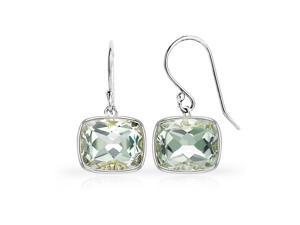 SightHolderDiamonds 12.00ctw Genuine Green Amethyst Earrings In Sterling Silver