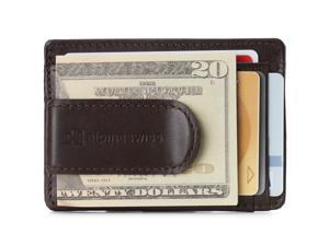 Alpine Swiss Mens RFID Safe Money Clip Minimalist Wallet ID Window Card Holder