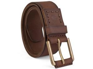 Timberland Mens Leather Belt Casual Dress Durable Strap Metal Buckle Sizes 32-40