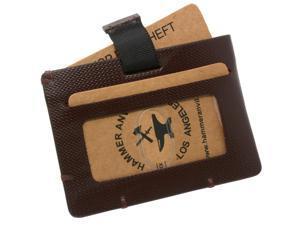 Hammer Anvil Mens Minimalist Front Pocket Wallet RFID Safe Leather Easy Pull Tab