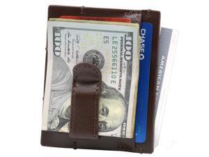 Alpine Swiss Double Diamond Mens RFID Money Clip Minimalist Front Pocket Wallet