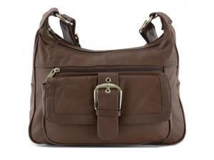 Women s Leather Organizer Purse Multi Pocket Handbag Shoulder Bag ... a7959c2021174