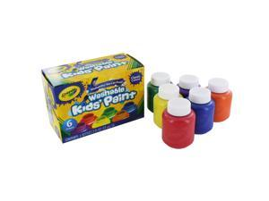Crayola Llc Formerly Binney & Smith BIN541204 Washable Kids Paint 6 Jar Set