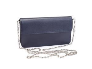 Royce Leather Blue Chic RFID Blocking Women s Wristlet Cross Body Bag in Genuine  Leather 884b5c77cf0fb