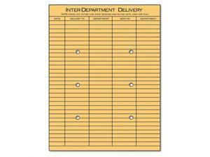 Light Brown Kraft String & Button Interoffice Envelope, 10 x 13, 100/Box - UNV63568