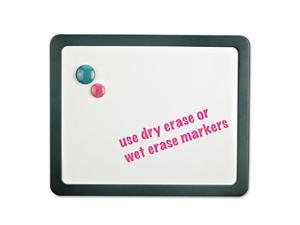 Recycled Cubicle Dry Erase Board, 15 7/8 x 12 7/8, Charcoal, with Three Magnets - UNV08165