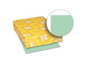 Exact Vellum Bristol Cover Stock, 67 Lbs., 8-1/2 X 11, Green, 250 Sheets
