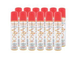 Visol BUV12 Triple Refined Butane Lighter Refill - 12 Can Pack - Shipped Seperately By Ground