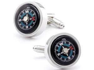 Functional Compass Cufflinks