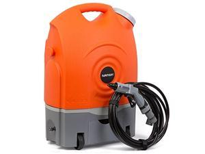 Ivation Multipurpose Portable Spray Washer w/ Water Tank - Runs on Built-In Rechargeable Battery, Home Plug & 12v Car Plug - Integrated Roller Wheels