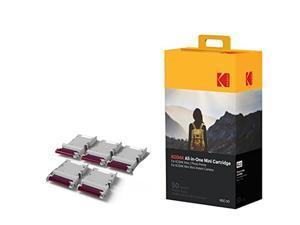 Kodak Mini 2 Photo Printer Cartridge MC All-in-One Paper & Color Ink Cartridge Refill - 50 Pack - COMPATIBLE with Mini Shot Camera, Mini 2 Printer (Not with Orignal Mini)