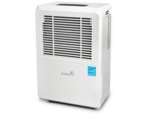 Ivation 50 Pint Energy Star Dehumidifier - Large-Capacity for Spaces Up to 3,000 Sq Ft - Includes Programmable Humidistat, Hose Connector, Auto Shutoff/Restart, Casters & Washable Air Filter
