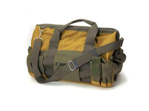ToolTreaux Nylon Storage Tool Bag with Side Pockets Shoulder Strap 18 x 8.5 In