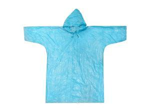ASR Outdoor Emergency Poncho Blue Polyethylene Rain Gear Camping One Size