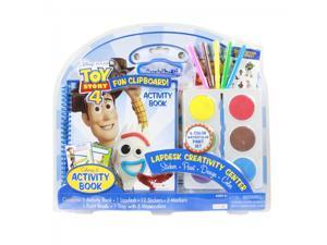 Toy Story 4 Lapdesk Paint Coloring Stickers Activity Book Set