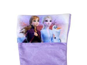 Disney Frozen 2 Kids Felt Embossed Christmas Stocking 15.5 Inch Holiday Decor