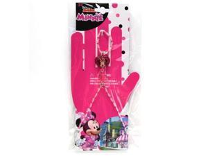 Disney Minnie Mouse Girls Beaded Ring Bracelet Glitter Charm Jewelry Gift