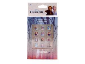 Disney Frozen 2 Girls Press On Nails Beauty Makeup Cosmetics Gift Set 12 Pieces