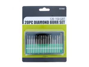 Universal Tool Assorted Diamond Burr Set 120-150 Grit .125 Inch Shank 20 Pieces