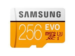 SAMSUNG EVO 256GB microSDXC Flash Card + Adapter Model MB-MP256HA/AM