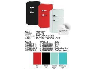 Avanti 3.0 Cu. Ft. Compact Retro Style Refrigerators - Seafoam Green