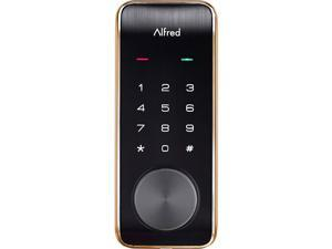 Alfred DB2-B Smart Door Lock with Bluetooth and keyed-entry - Gold