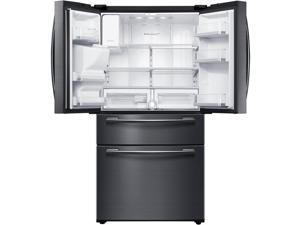 """Samsung 33""""-Wide 25 cu ft Capacity 4-Door French Door Refrigerator Black Stainless Steel"""