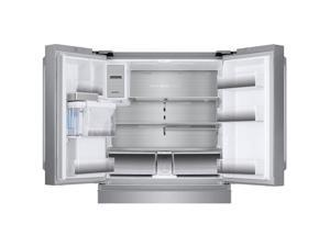 Samsung - 22.7 Cu. Ft. 4-Door Flex French Door Counter-Depth Refrigerator - Stainless Steel
