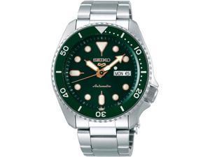 Seiko SRPD63 5 Sports 24-Jewel Automatic Watch - Green