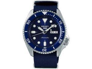 Seiko SRPD87 5 Sports 24 - Jewel Automatic Watch - Blue/Stainless - Nylon