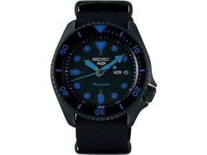 Seiko SRPD81 5 Sports 24-Jewel Automatic Watch - Black/Blue - Nylon