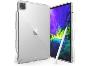 Ringke Fusion Compatible with iPad Pro 11-inch (2021/2020/2018) Case, Transparent Shockproof Cover with Overcharge Preventing Pencil Holder - Clear