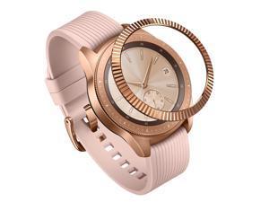 Ringke Bezel Styling for Galaxy Watch 42mm / Gear Sport Bezel Ring Adhesive Cover Anti Scratch Stainless Steel Protection [Stainless] for Galaxy Watch Accessory GW-42-06