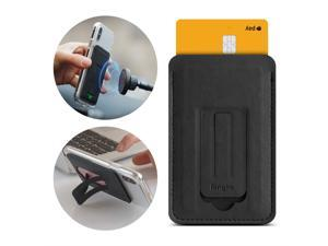 Ringke Multi Card Holder [3-in-1] Magnetic Phone Stand for Smartphone Adhesive PU Leather Slim Mini Wallet Credit Card Sleeve Attachment