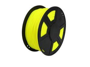 WyzWorks® 3D Printer Filament 1.75mm PLA Fluorescent Yellow 1kg/2.2lb for RepRap MarkerBot & More