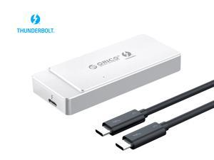 ORICO Aluminum Thunderbolt 3 M.2 NVME SSD Enclosure 40Gbps Support 2TB Aluminum with 40Gbps Thunderbolt 3 C to C Cable For Mac Windows