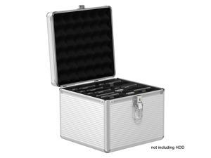 ORICO Aluminum Hand-held Multi-protection 16 Bay 3.5/2.5/M.2 HDD/SSD Protective Storage Carrying Box with Security Lock Support For 6 x 3.5inch HDD, 6 x 2.5inch HDD, 3 x M.2 SSD - Silver (BSC35-LSN15)