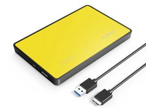 ORICO Tool Free 2.5 inch USB 3.0 to SATA External Hard Drive Enclosure for 7mm/9.5mm Hard Drive Disk [Upgraded Version, UASP Support] -Orange