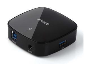 Orico H4818-U3-WH Portable 4-Port USB 3.0 Mini Hub with 3.3 Ft USB 3.0 Cable