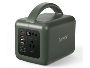 150W Portable Power Station, ORICO 40000mAh Solar Generator, Dual 110V/120W Pure Sine Wave AC Outlet, 60W PD and 72W DC Port Backup Lithium Battery with Flashlight for Outdoors Camping, Emergency