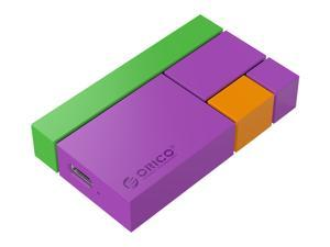 ORICO 1TB Chroma Portable SSD Hard Drive  M.2 Mini Portable SSD with 3D NAND FLASH, USBC 3.1 540M/S Colorful High Speed Solid State Drive