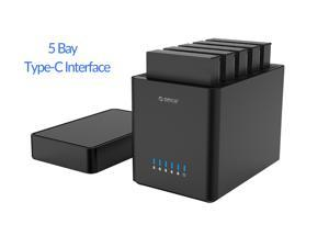 ORICO 5 Bay External Hard Drive Enclosure USB 3.1 Type-C Tool-Free Hard Disk Enclosure for 3.5inch SATA HDD - DS500C3