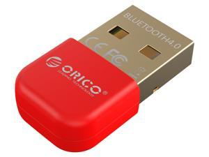 ORICO USB Bluetooth 4.0 Transmitter Receiver with 3Mbps Data Transfer Rate and 20M Wireless Range -Red