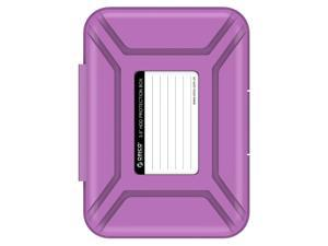 """ORICO 3.5-inch HDD Protector, Ultimate Villa For 3.5"""" Hard Disk Drive , 3.5 Inch Protective Box/Storage Case, Anti-Static/Anti-Drop/Anti-Shake/Water Resistant/Dust Resistant Case - Purple (PHX-35)"""